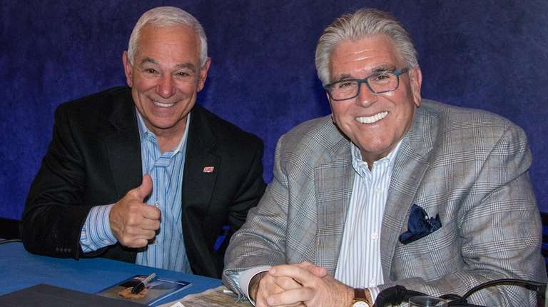 Mike Francesa with Bobby Valentine at the Paley
