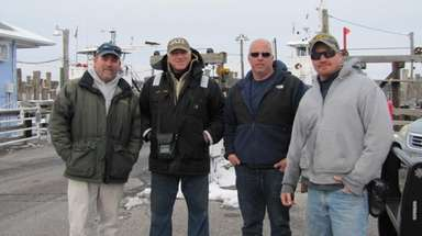 Crew members of North Ferry's Menantic boat, from