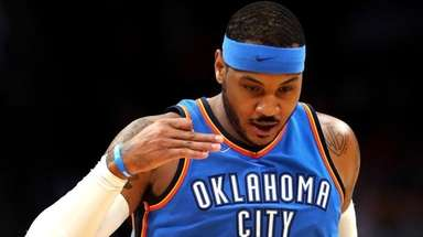 Carmelo Anthony of the Oklahoma City Thunder at