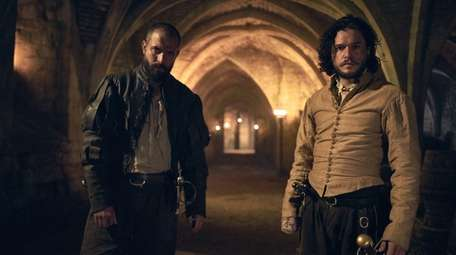 Tom Cullen, left, and Kit Harington in HBO's