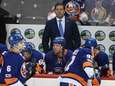 Islanders head coach Doug Weight looks on in
