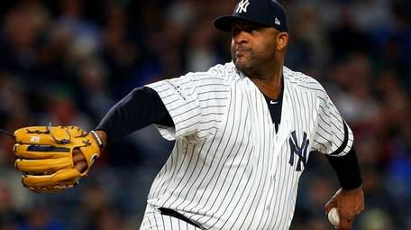 CC Sabathia pitches against the Houston Astros in