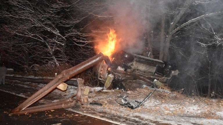 State Police and North Babylon firefighters respond to