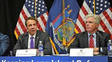 Gov. Andrew M. Cuomo, left, with Suffolk County