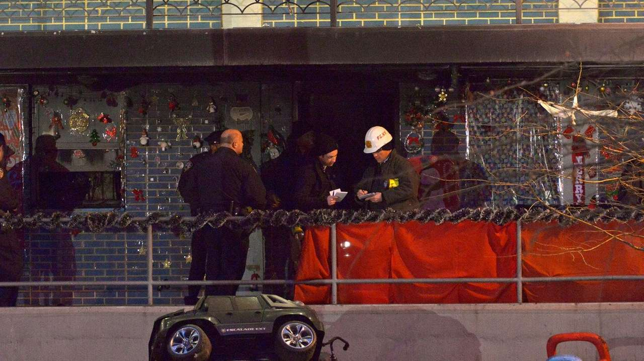 FDNY at the scene of an apartment fire