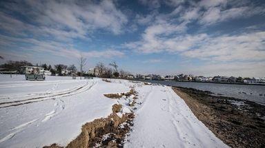 Erosion at the shoreline of Colleran Park in