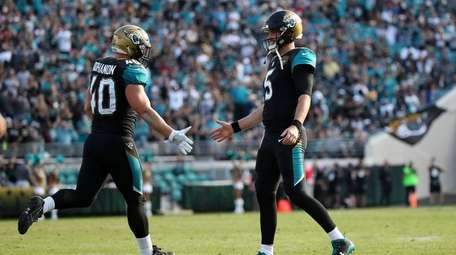 Tommy Bohanon and Blake Bortles of the Jacksonville