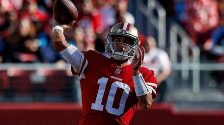 Quarterback Jimmy Garoppolo of the San Francisco 49ers