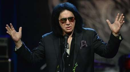Gene Simmons of the band KISS, pictured above