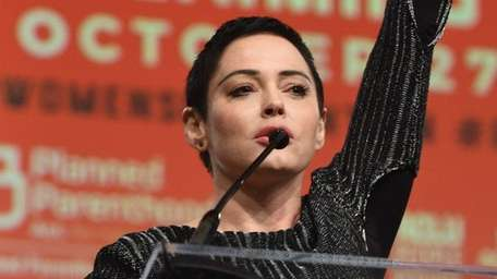 Actress Rose McGowan, pictured in Detroit on Oct.