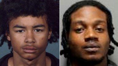 James Tafari, 19, left, and Anthony M. Alcindor-Louis,