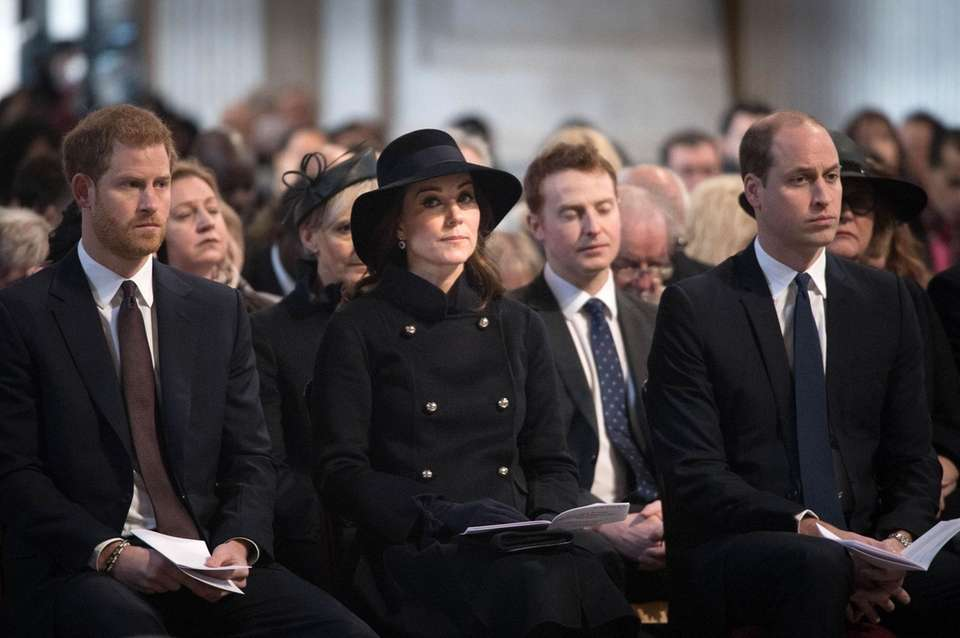 Prince Harry, Kate Middleton and Prince William attend