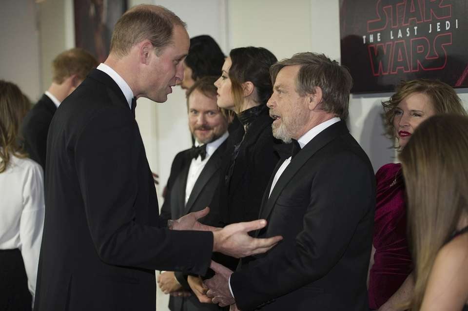 Prince William speaks to actor Mark Hamill at