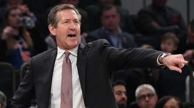 Knicks head coach Jeff Hornacek during agame against