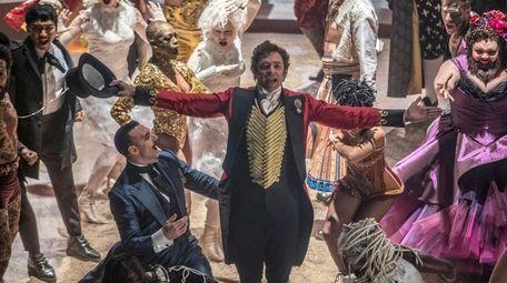 Hugh Jackman plays P.T. Barnum in