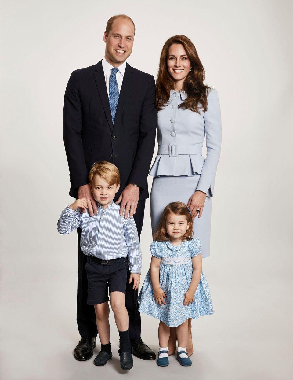 Prince William, Kate Middleton, Prince George and Princess