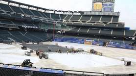 Field view of where the rink will be