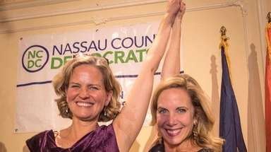 Democratic Nassau County Executive-elect Laura Curran and Hempstead