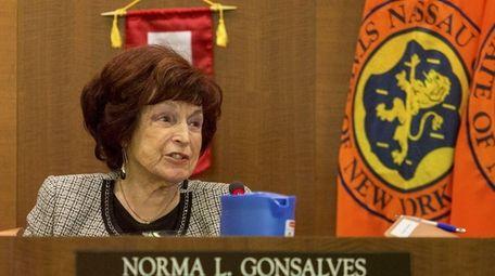 Norma Gonsalves (R-East Meadow), the Nassau Legislature's presiding