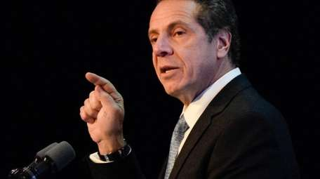 New York Gov. Andrew Cuomo, seen in Albany
