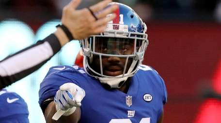 Landon Collins of the New York Giants celebrates