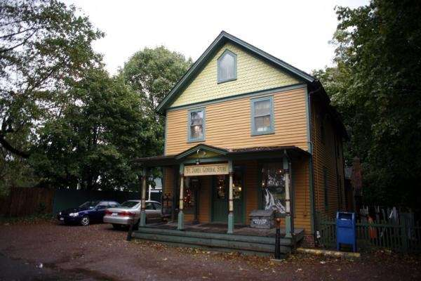 The charming St. James General Store was built