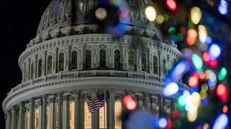 The 2017 Capitol Christmas Tree is lit on