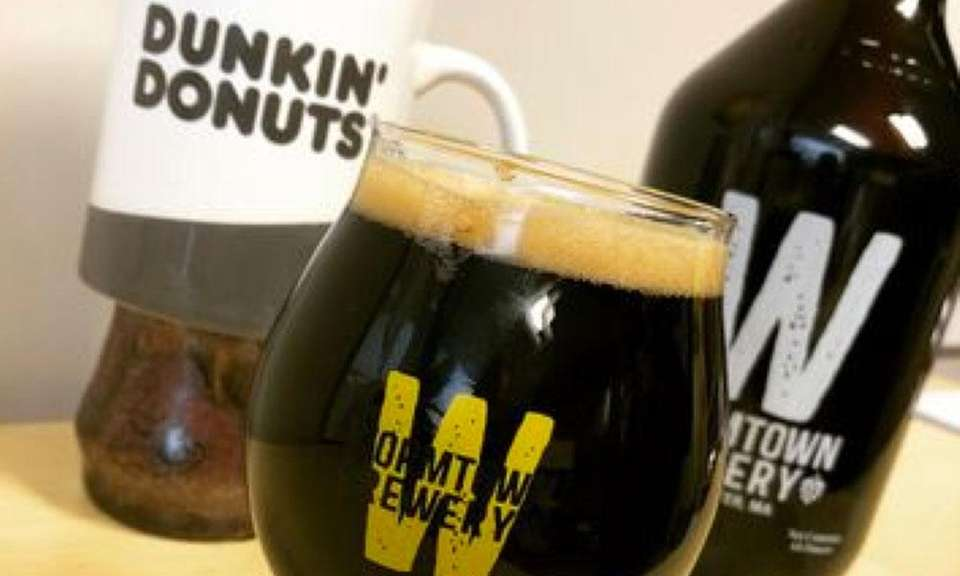 Want a beer that's made from Dunkin' Donuts