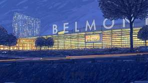 A conceptual rendering of the redevelopment of Belmont