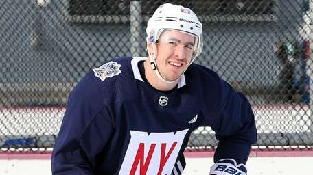 The Rangers' Ryan McDonagh skates across the ice