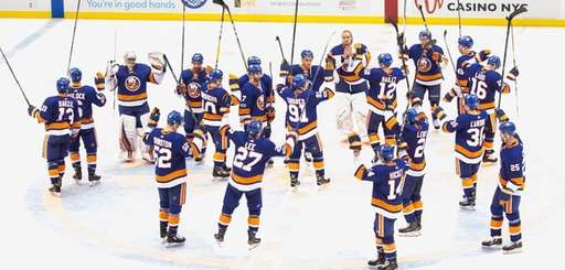 The Islanders returned home to the Nassau Coliseum,