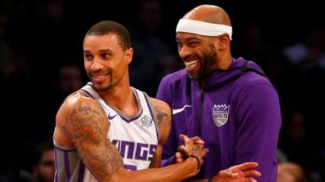The Kings' Vince Carter has a laugh with
