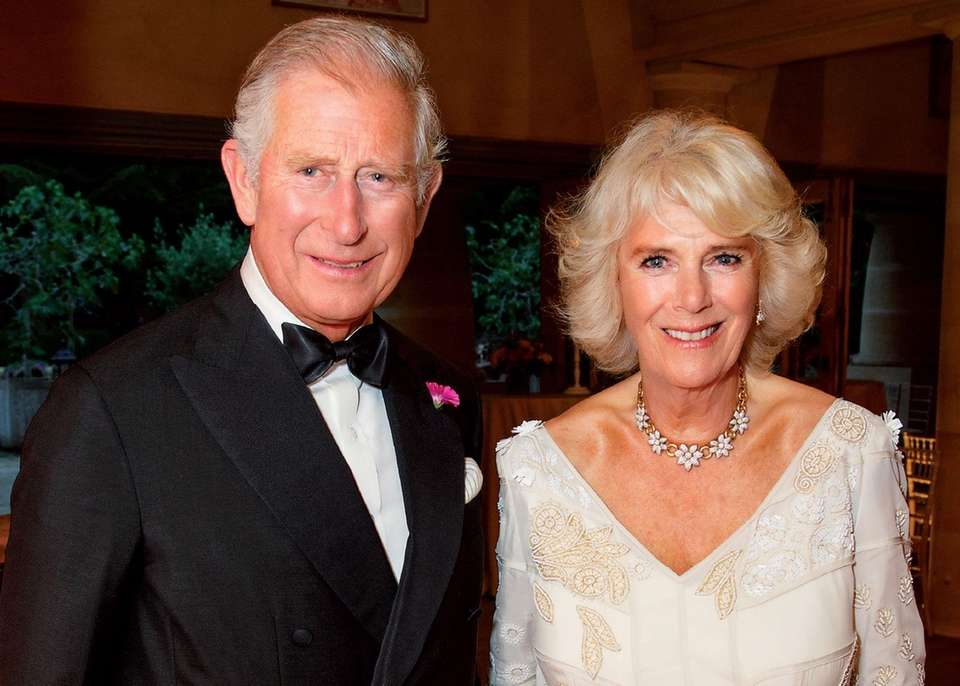 Prince Charles and his wife, Camilla, pose in
