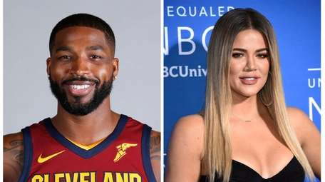 Tristan Thompson, left, and Khloé Kardashian are expecting