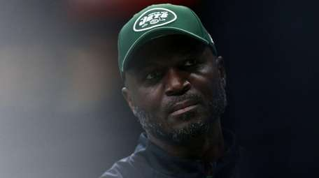 Jets head coach Todd Bowles reacts before a