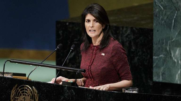 Ambassador Nikki Haley praises reduced United Nations 2018-2019 budget