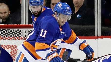 The Islanders' Shane Prince, Johnny Boychuk and Ducks'