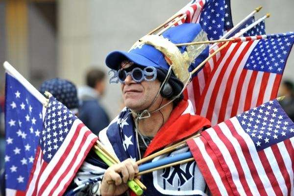 Yankees fan Lenny Lipton of the Bronx outside