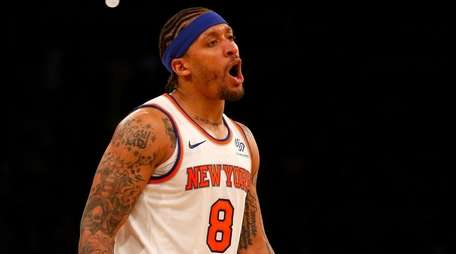 Michael Beasley #8 of the New York Knicks