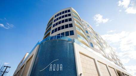 The exterior of Aqua on the Ocean in