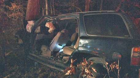 A Farmingville woman was seriously hurt in a