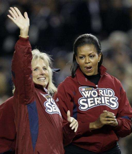 Dr. Jill Biden, left, and First Lady Michelle