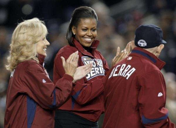 Dr. Jill Biden and First Lady Michelle Obama