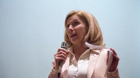 New York State Senator Elaine Phillips speaks to