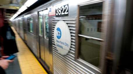 The C train pulls into the 34th Street-Penn