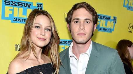 Melissa Benoist and actor Blake Jenner attend the