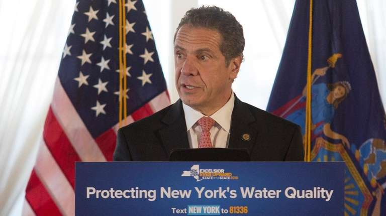 New York Governor Andrew Cuomo speaks on Dec.