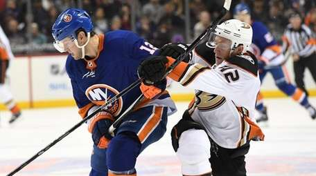Islanders right wing Josh Bailey skates for the