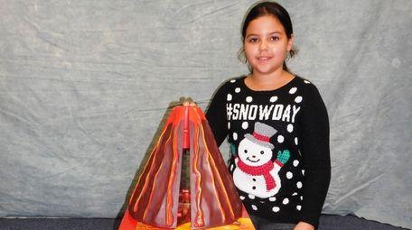 Kidsday reporter Carolina Villadiego tested the Erupting Cross-Section