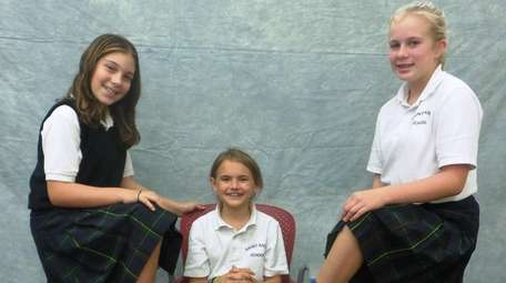 Kidsday reporters, from left, Kaitlyn Wing, Olivia Breglio